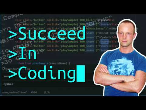 Coding For Beginners Lesson 1: Drum Machine - Javascript, HTML, CSS Programming - Succeed In Coding