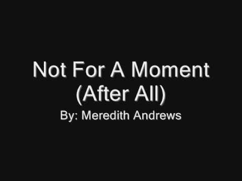 Not For A Moment (instrumental lyric video)