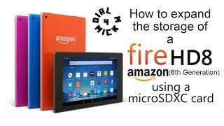 You can expand the storage of a Amazon Fire HD 8 or HD 7 by using an MicroSDXC Card. This video takes you through step by step how to fit and expand the ...