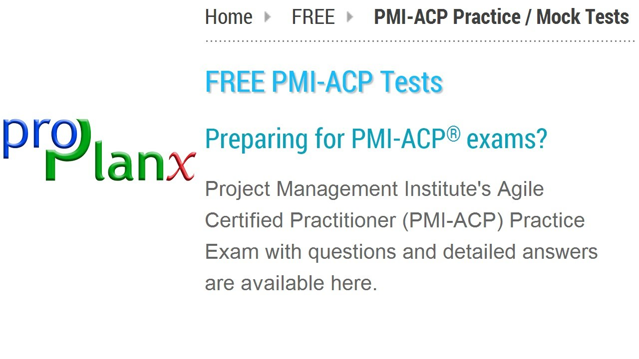 How To Access Proplanxs Free Pmi Acp Practice Tests Youtube