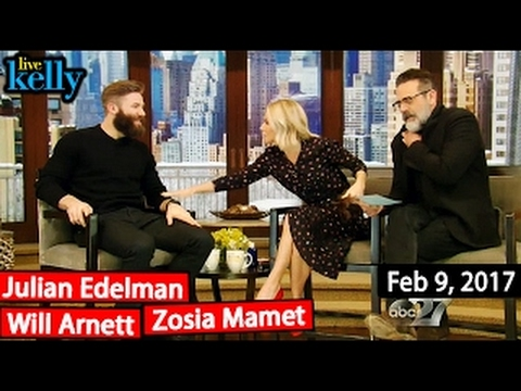 Live with Kelly (Feb 9, 2017) Will Arnett, Julian Edelman, Zosia Mamet & co-host Jeffrey D