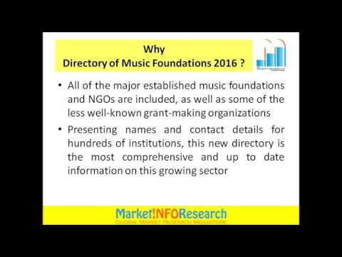 Directory of Music Foundations 2016
