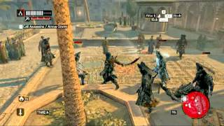 Assassin's Creed Revelations Gameplay Attacking and Surviving Janissaries