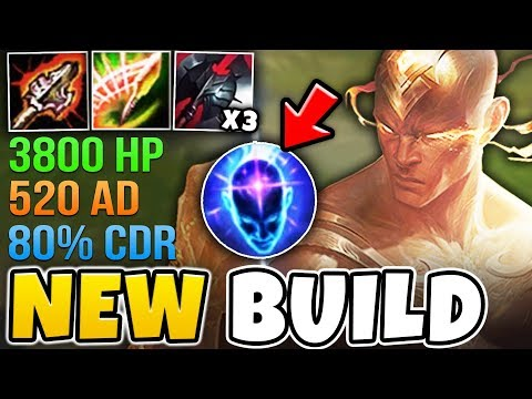 WTF!? NEW ITEMS + 3 BLACK CLEAVERS = BUSTED LEE SIN BUILD (520 AD 3800 HP) - League of Legends