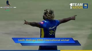 Lasith Malinga's 500th International Wicket
