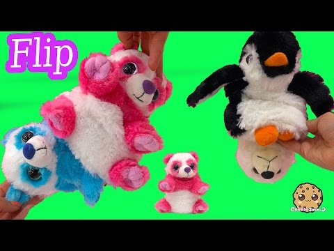 Flip N Switch A Rooz Stuffed Plush Animals Turn Inside Out 2 In One Toys - Review Video Cookieswirlc