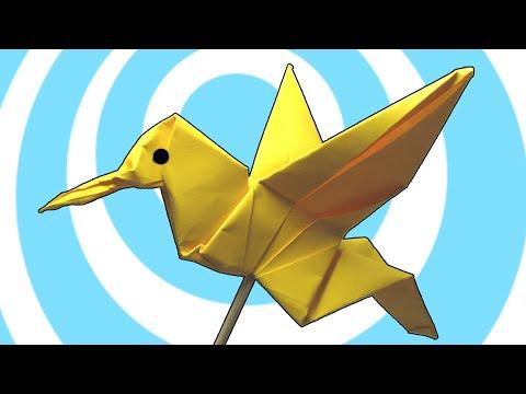 Hur man viker en colibri pappersfågel
