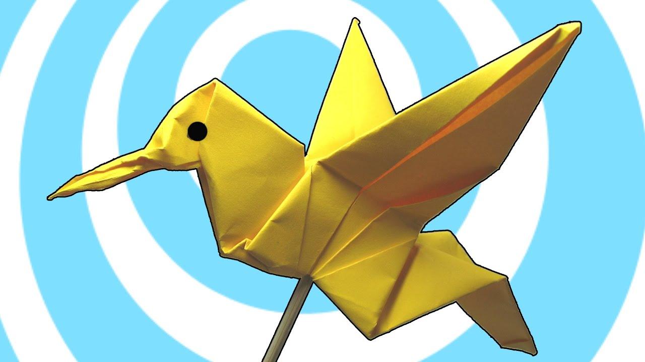 origami hummingbird diagram instructions 2005 jeep liberty trailer wiring colibri youtube