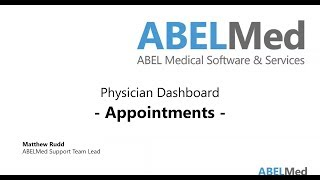 Physician Dashboard - Appointments