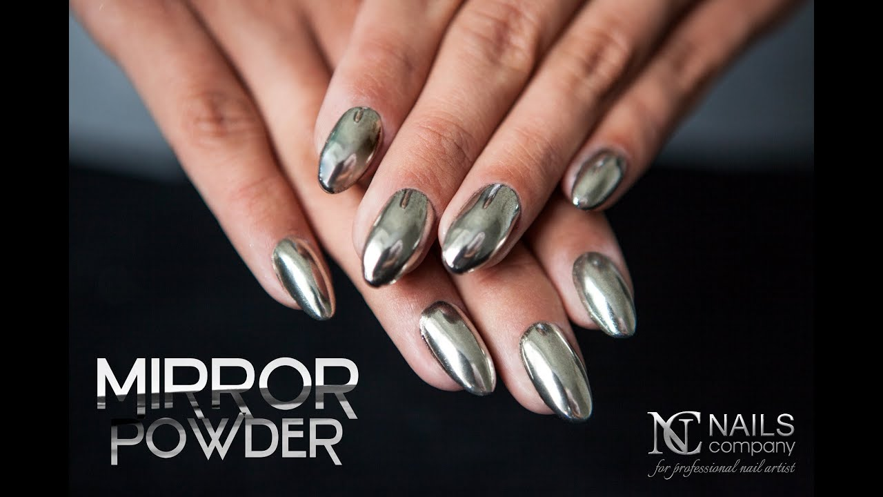 CHROME MIRROR POWDER STEP BY STEP by NAILS COMPANY - YouTube