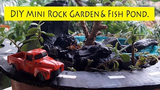 Hi Friends, This is a fun DIY video in which we show you a Fun Real Miniature Rock Garden with DIY Real Pond! Answer to your Mini Garden with hot wheels ...