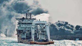 Seven days later, oil tanker Sanchi still ablaze in East China Sea