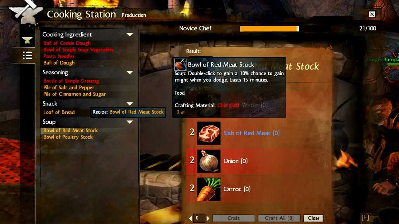 Guild Wars 2 Crafting Guide Part 3 Cooking Youtube