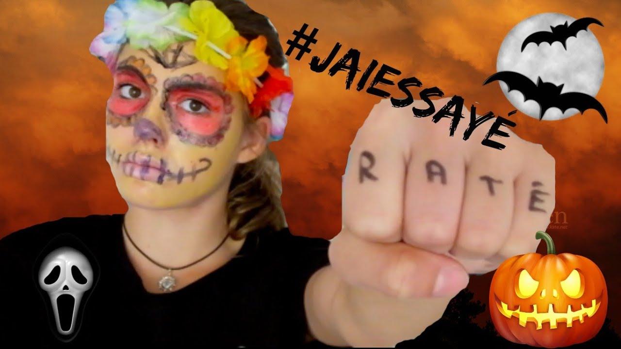 Jaiessay Maquillage Halloween Sugar Skull Youtube