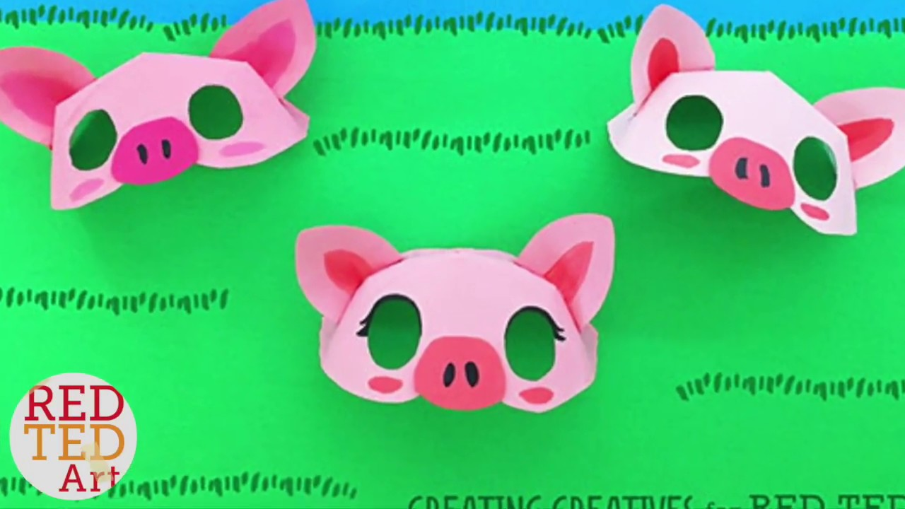 graphic relating to Printable Pig Mask called Paper Plate Pig Mask Template by way of Acquiring Creatives for Pink Ted Artwork