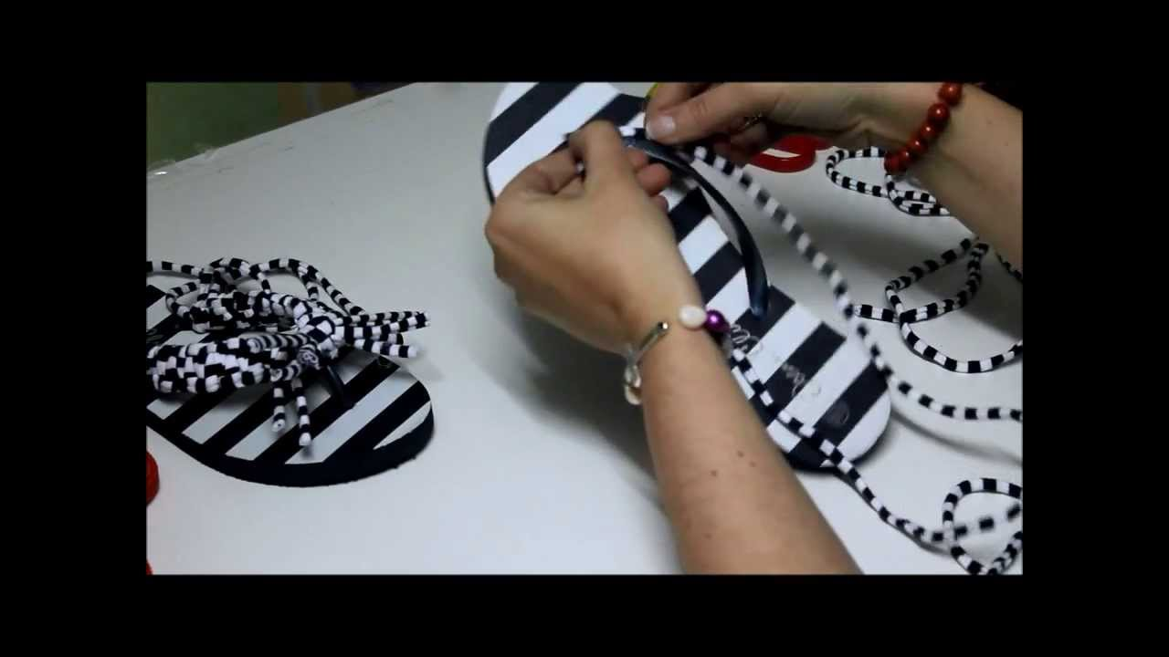 Zapatillas con trapillo diy sandalias decoradas youtube - Trapillo paso a paso ...