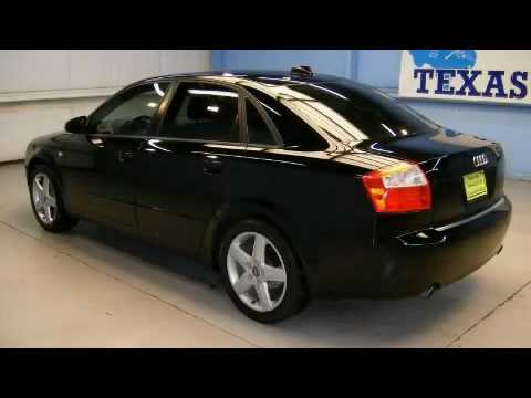 preowned 2004 audi a4 1 8t dallas tx youtube. Black Bedroom Furniture Sets. Home Design Ideas