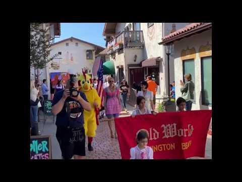 GERMAN SCHOOL campus Newport Beach opening parade Oktoberfest 2019 @ Old World Huntington Beach CA