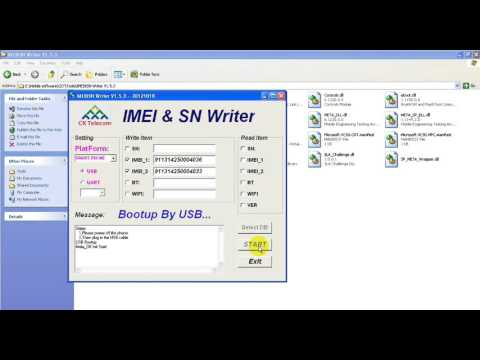 Change IMEIs by IMEI & SN Writer Tool