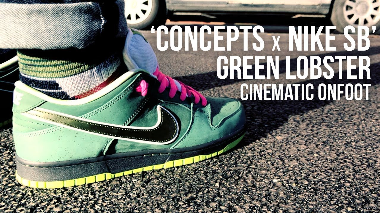 0e82cfc994b5 Concepts x Nike SB Dunk Green Lobster Cinematic Onfoot Review ...