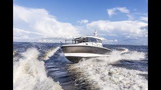 Катер для путешествий и экспедиций | Алюминиевый катер | Тест драйв катера в Финском заливе