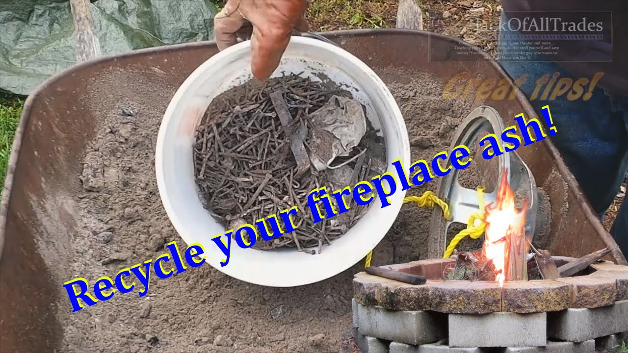 WOOD ASH Recycle your fire pit wood ash with this great tip - YouTube
