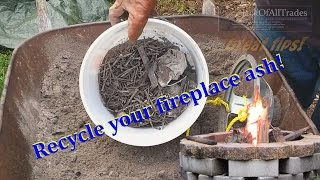 WOOD ASH Recycle your fire pit wood ash with this great tip