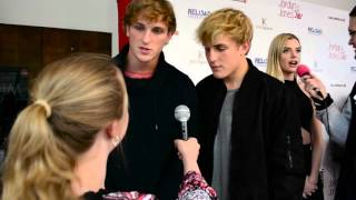 Jake and Logan Paul Interview at Jordyn Jones' Sweet 16 Birthday Party