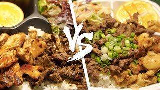Waba Grill VS. Flame Broiler - The Ultimate Teriyaki Fast-Food Chain Showdown! [4K ASMR]