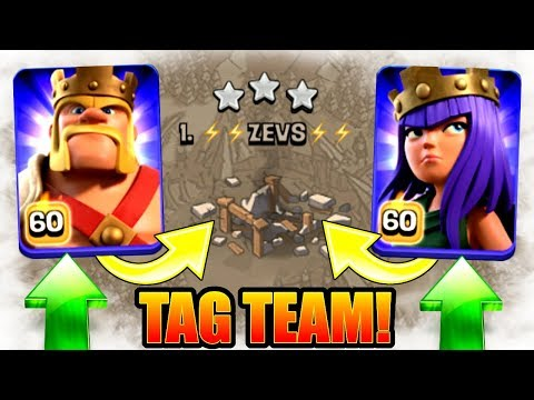 FIRST TIME EVER!! - LEVEL 60 HERO TAG TEAM! - Clash Of Clans