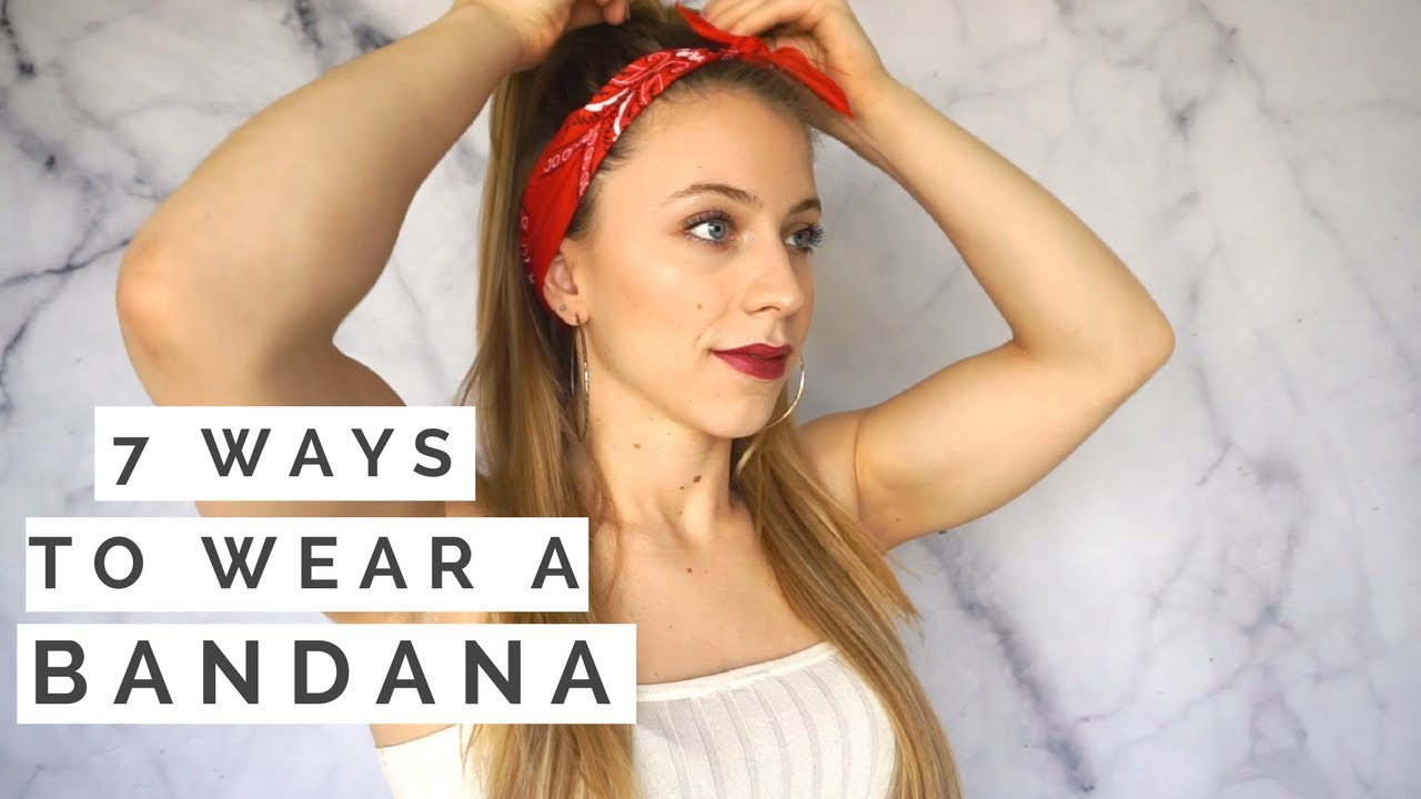 7 diy 1-minute bandana hairstyles!