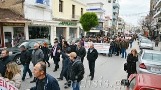 Πορείες στο Κιλκίς για το αντιασφαλιστικό ΣΥΡΙΖΑ-ΑΝΕΛ-Eidisis.gr webTV