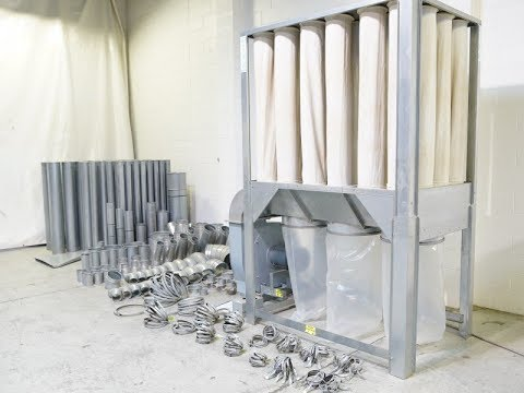 DISA S750 DUST COLLECTOR 4500 CFM W/200'+ NORDFAB DUCTING