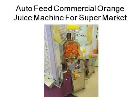 Auto Feed Commercial Orange Juice Machine