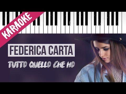 Federica Carta | Tutto Quello Che Ho | AMICI 16 | Piano Karaoke con Testo