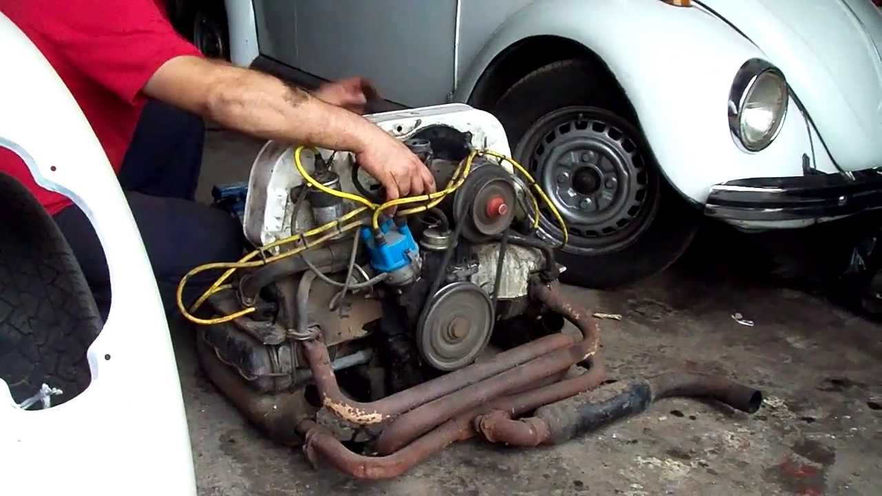 Vw Kombi Motor 1600 6 A Os Sin Arrancar Youtube