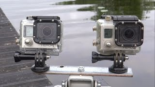 Gopro Hero 3 BE vs 4 Black underwater side by side comparison test. Гопро сравнение под водой.