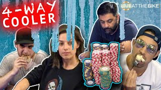 INSANE COOLER Flop: Straight vs Top Set vs Overpair vs Huge Draw ♠ Live at the Bike!