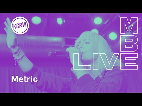 "Metric performing ""Breathing Underwater""  on KCRW"