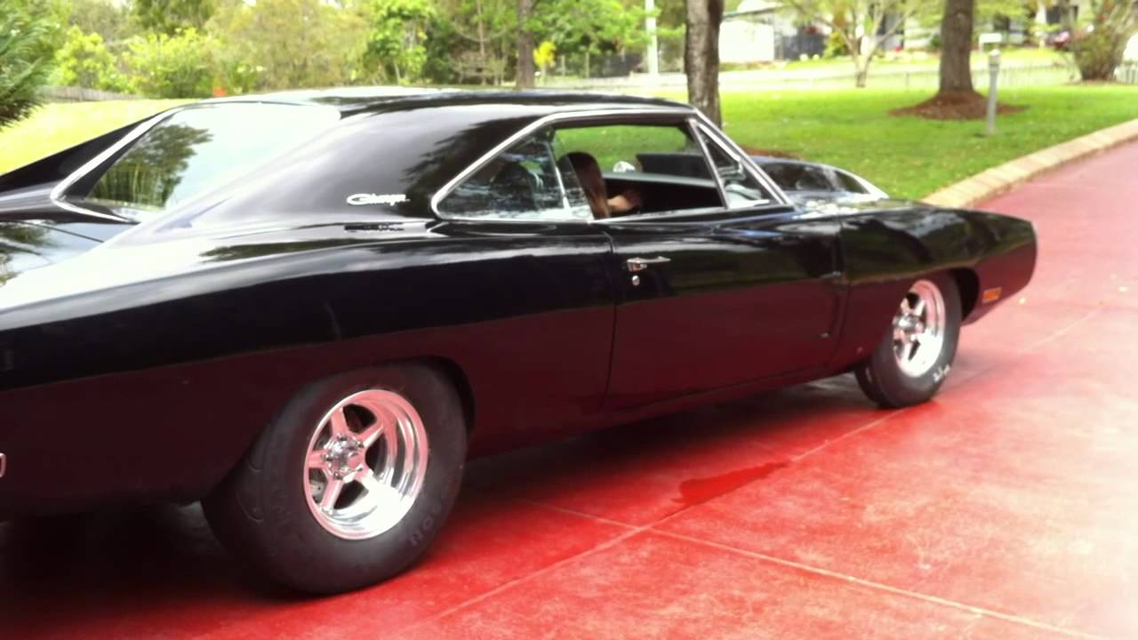 Dodge Challenger 1969 Black >> 70 pro street charger 9 sec - YouTube