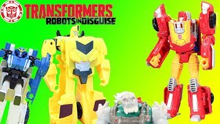 Transformers Generations Hot Rod & Robots in Disguise Combiner Force Bumblebee & Sideswipe Adventure
