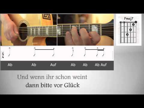 Sarah Connor- Das Leben ist schön- COVER - Lyrics - Akkorde - Gitarre lernen