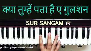 Kya Tumhe Pata Hai Gulshan I How to Play Harmonium I Dil Hai Betaab I Sur Sangam I Full Hd 1280x720