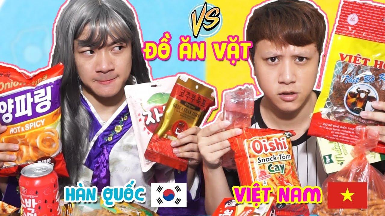 ĐỒ ĂN VẶT HÀN QUỐC VS ĐỒ ĂN VẶT VIỆT NAM!! Gặp Người Hàn & Cái Kết …