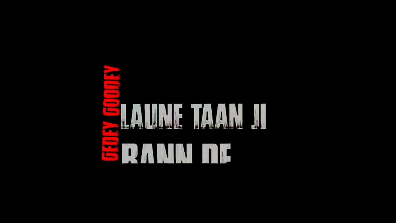 New punjabi song 2018    Black screen video lyrics effect ...