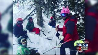 Skiier gets a stick through the face