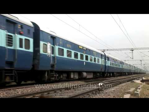Indian Railway Blue Parcel Service train on the move!