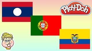 Play-Doh Flags! Laos, Portugal, and Ecuador! EWMJ #152