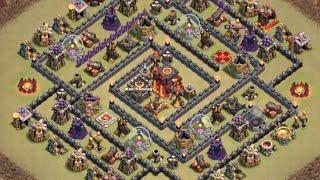 Clash of Clans - [TH10 Maze Base] Mass Valks with AQ Walk Strategy HD