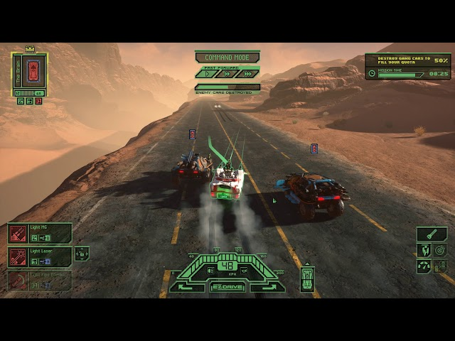 Dark Future: Blood Red States PC gameplay - Post-apocalyptic strategic car action